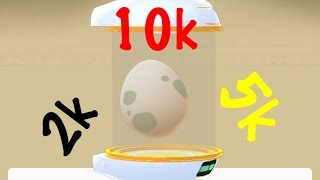 "7 Rare Pokemon GO Egg surprises hatching: Two 10k, four 5k, and one 2k. Watch to see which Pokemon we got!!  Please give up a ""thumbs up"" if you like our video.  If there are any challenge you want to see Kaden & Kiana do, please leave a comment below.  For more challenge videos, please subscribe to our channel!Thanks so much for watching!Music: Wallpaper  by Kevin MaCleod"