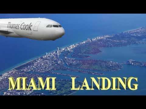 Miami Landing at Miami International Airport, Florida 4K