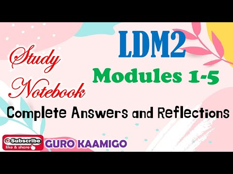 LDM2 Module 1-5 : Complete Answers and Reflections
