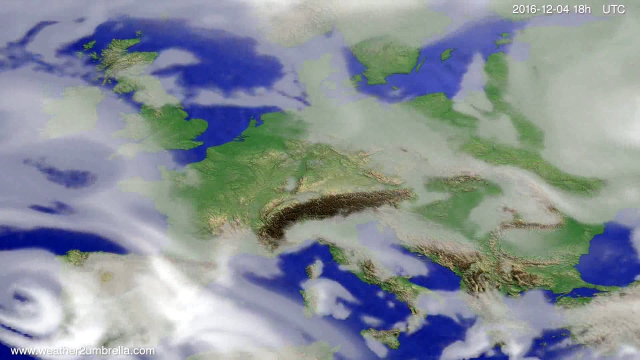 Cloud forecast Europe 2016-12-01