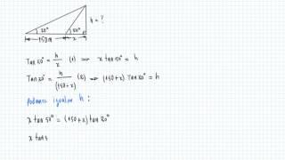 Aplicación Trigonométrica con ángulo recto
