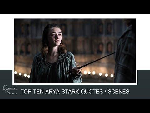 Thank you quotes - Top 10 Arya Stark Quotes / Scenes
