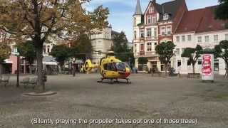 Peine Germany  City new picture : ADAC Helicopter Lands in Peine, Germany