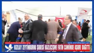 Kızılay Zeytinburnu Şubesi Kazlıçeşme Fatih Camiinde Aşure Dağıttı