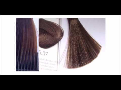Teñir el cabello color chocolate con reflejos rubio medio natural o dorado