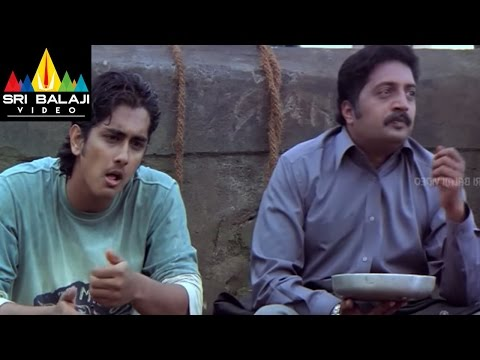 Nuvvostanante Nenoddantana Movie Prakashraj Scene | Siddharth, Trisha | Sri Balaji Video