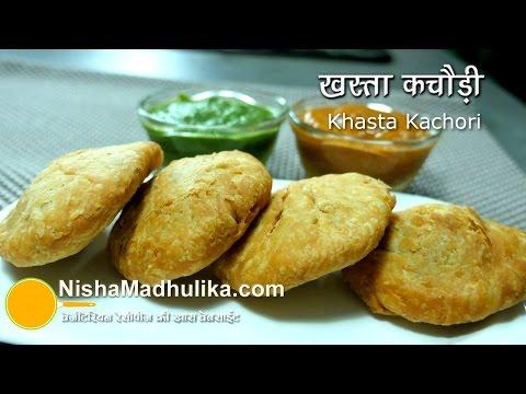 Khasta Kachori Recipe -  Crispy Dal Bhari khasta Kachori - Urad Dal Kachori