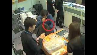 Hong Kong Jewellery Show - Thief Caught On CCTV