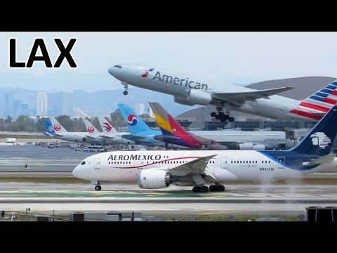 1 HOUR PLANESPOTTING At Los Angeles Airport (LAX) | ✈ [Full HD]