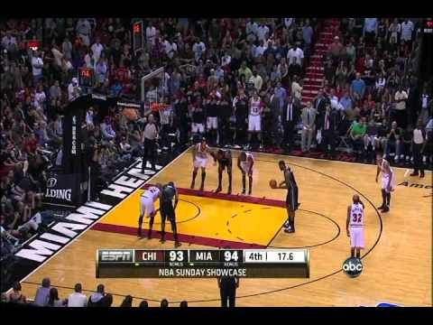 Final minute of Chicago Bulls vs Miami Heat