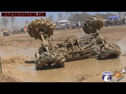Rig rolls during run at Mud Truck Madness