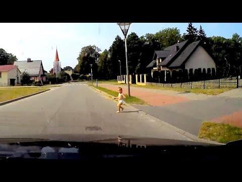 Dziecko wybiegło wprost przed samochód. Nagranie z kamery w aucie