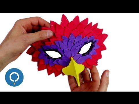 Masque d'oiseau à fabriquer soi-même