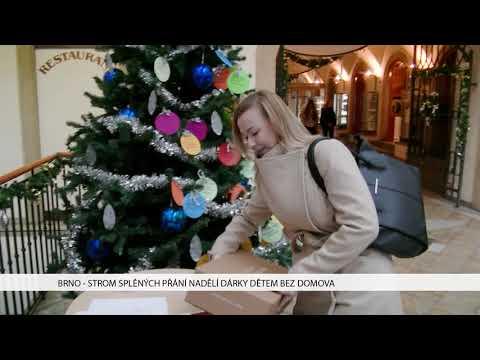 TV Brno 1: 12.12.2017 Strom splněných přání nadělí dárky dětem bez domova