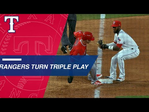 Profar and Odor combine for bases-loaded triple play