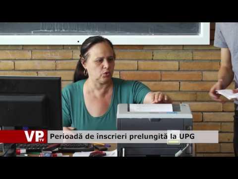 Perioadă de înscrieri prelungită la UPG
