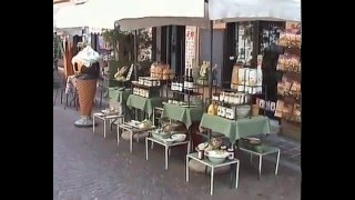 Travel to Italy on Lake Como. Even like Bellagio is Menaggio also the pearl of Lake Como. A large market in Lenno.