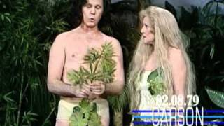 Betty White&Johnny Carson In Funny Skit As Adam And Eve On Johnny Carson's Tonight Show, 1979
