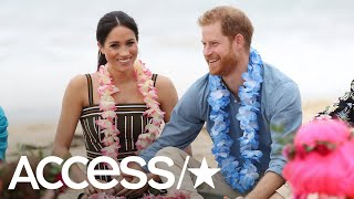 Prince Harry & Meghan Markle Go Barefoot At The Beach | Access