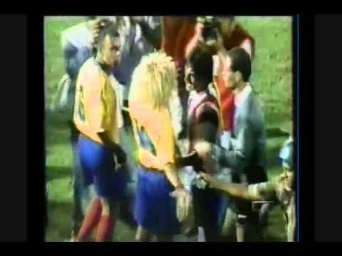 Chilavert golpea a Asprilla Paraguay 2 vs 1 Colombia 1997