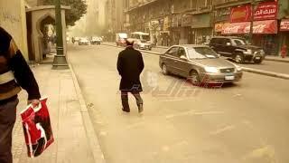عاصفة ترابية تضرب القاهرة