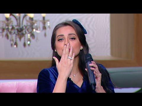 """شاهد- هبة مجدي تغني أغنية زوجها محمد محسن """"في كل مكان """""""