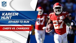 Kareem Hunt Blasts Off for Amazing 69-Yd TD Run! | Chiefs vs. Chargers | NFL Wk 3