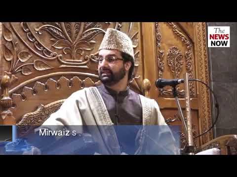 Mirwaiz Umar Farooq speaks during Friday prayer in Srinagar
