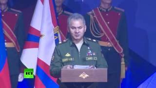 Сергей Шойгу поздравил 200 детей со вступлением в ряды движения «Юнармия»