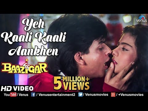 Download Yeh Kaali Kaali Aankhen | Baazigar | Shahrukh Khan & Kajol | HD VIDEO | 90's Bollywood Hindi Song HD Mp4 3GP Video and MP3