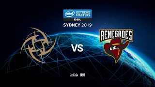 NiP vs Renegades - IEM SYDNEY 2019 - map2 - de_mirage [ceh9 & SSW]