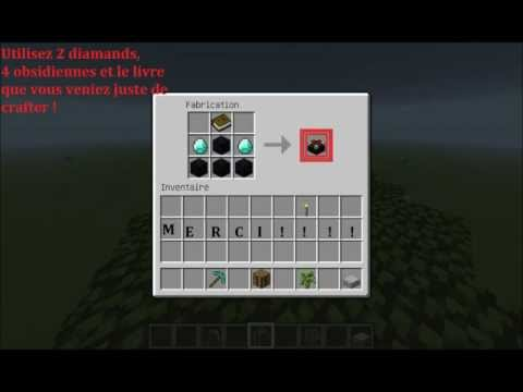 comment construire table d'enchantement minecraft