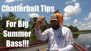 Video Lake Fork Summer Chatterbait Tips For Big Bass!!! MP3, 3GP, MP4, WEBM, AVI, FLV Agustus 2018