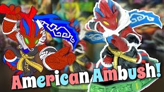 Skylanders Imaginators: AMERICAN AMBUSH! (Custom Variant)► Hello and Welcome to Alpha Ambush my amazing Soldiers! Today, I show off to you guys my American Ambush, for (late) President's Day! :)► Check out the official Skylanders Imaginators website: https://www.skylanders.com/ :)======================================================Check me out on:► Instagram  - https://instagram.com/sensei_ambush - @Sensei_Ambush► Google+ - https://plus.google.com/u/0/ - Fire Fiesta► Facebook - https://www.facebook.com/profile.php?id=100011637317853 (Supercharger Fiesta)► Twitter - Coming Soon► Gamecenter(s) - Fire Fiesta! and Cute Platypus Perry =====================================================Don't forget to check out all my other Youtube channels:► FCGaming: https://www.youtube.com/channel/UCqrH...► Disney Channel Unofficial: https://www.youtube.com/channel/UCCrf...► Phineas Flynn: https://www.youtube.com/channel/UCRJJ...► Gamers Finest: https://www.youtube.com/channel/UC5Cd...=====================================================Thanks to all these people for contributing :)~*Music: Skylanders Music https://www.youtube.com/channel/UCF7hbJ8tHdfFt81k822QTvw=====================================================Check out some of my other videos:► Skylanders 2017 REALITY?! (+ Leaked Figure?!): https://youtu.be/k-4j9t18k8g► Skylanders Imaginators: WAVE FOUR RELEASE DATES! (Skylanders 2017 Decision + Heartbreaker Buckshot): https://youtu.be/8WWA1Id9JXg► SKYLANDERS IMAGINATORS! (Review): https://youtu.be/ql6pRFKG-v0► Will there be a SKYLANDERS SEVEN?! (Thoughts + Actual revenue): https://youtu.be/fCttoITlyco► Skylanders Imaginators: SENSEI SHRINES! (1-32/ALL): https://youtu.be/x1KisoU-Q6A► Skylanders Imaginators: PAINYATTA COMBO PACK UNBOXING!: https://youtu.be/A1lgoIiXFu0► I need you guys... (+ THRILLIPEDE UNBOXING!): https://youtu.be/12hyqM_3dwQ► Skylanders Imaginators: WILDSTORM ADVENTURE PACK! (SKYLANDERS AS SWITCH LAUNCH TITLE, etc): https://youtu.be/0cjPFQ03VqE► Skylanders Ima