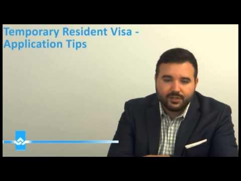 Temporary Resident Visa TRV Application Tips Video