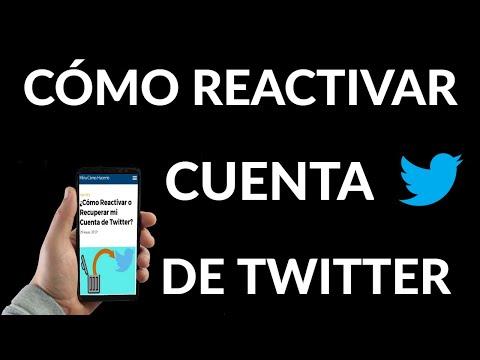Cómo Reactivar o Recuperar mi Cuenta de Twitter