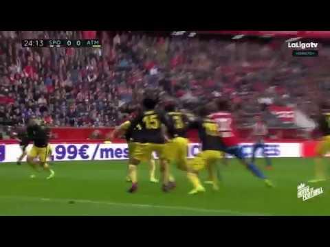 Sporting 1-4 Atlético de Madrid | Goles y Resumen | Goals | 18-02-17