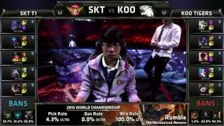 Highlight CKTG 2015: SKT (Faker Kassadin) VS Koo (Smeb Riven) (Game 1)