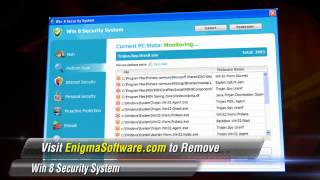 Watch how Win 8 Security System infects computer