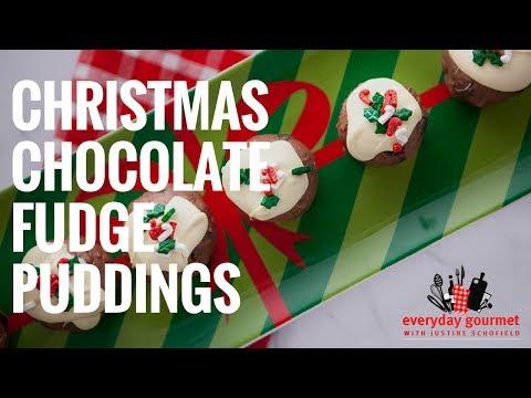 Christmas Chocolate Fudge Puddings – Cadbury | Everyday Gourmet S6 E90