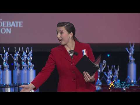 "Ella Schnake ""Debate Like a Girl"" - Program Oral Interpretation Champion - Nationals 2019"