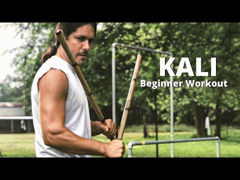 Complete KALI Beginner Workout - Sinawali Footwork and Sweat