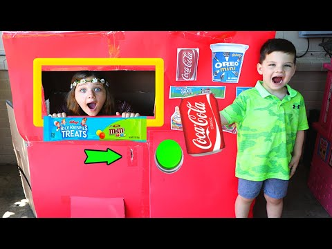 Caleb PRETEND PLAY w/ Vending Machine KIDS TOY STORY!