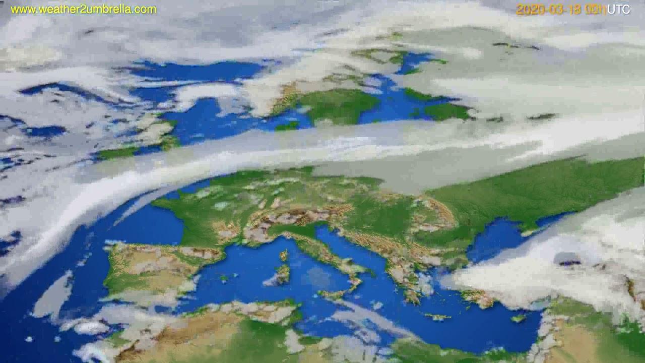 Cloud forecast Europe // modelrun: 00h UTC 2020-03-18