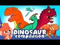 Learn Dinosaurs for Kids | Scary Dinosaur movie Compilation | t-rex Triceratops | Club Baboo