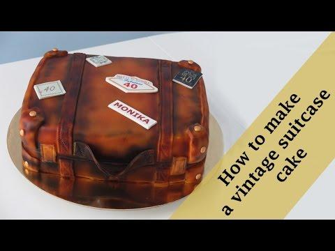 How to make a vintage suitcase cake tutorial / Jak zrobić tort stara walizka