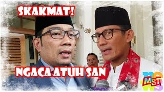 "Download Video Ridwan Kamil Skakmat Sandiaga Uno, ""Ngaca Atuh San"" MP3 3GP MP4"