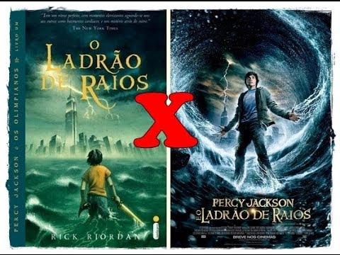 Livro X filme Percy jackson e o ladrão de raios