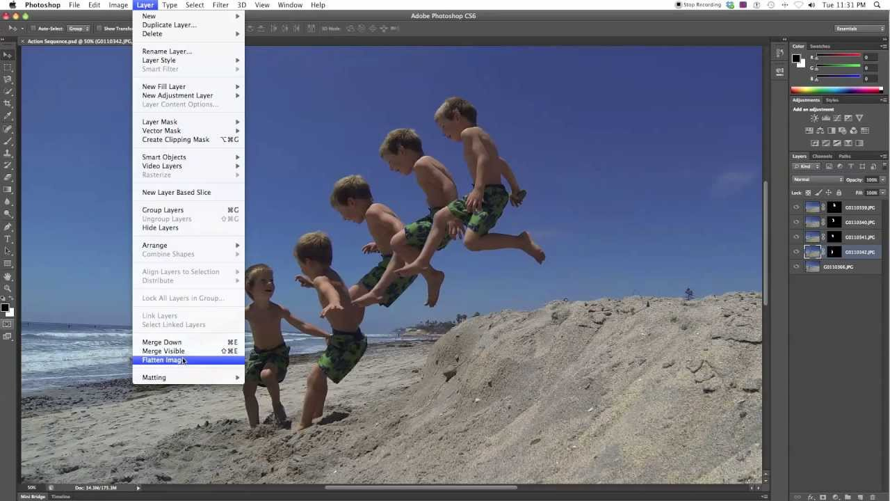 GoPro Hero3 Burst Tutorial: How To Make A Sequence In Photoshop