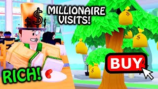 Buying MONEY TREE & VIP MILLIONAIRE Customer! Roblox MY RESTAURANT!